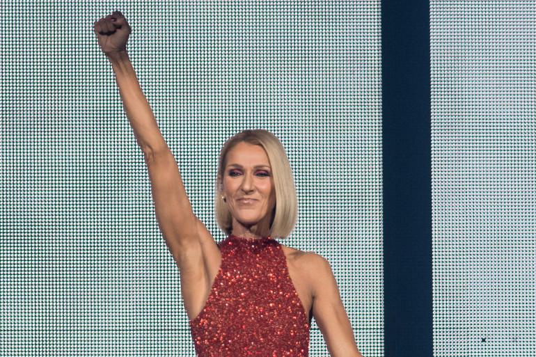 """La chanteuse Céline Dion lors du concert d'ouverture de sa nouvelle tournée, """"Courage"""", le 18 septembre 2019 à Québec"""