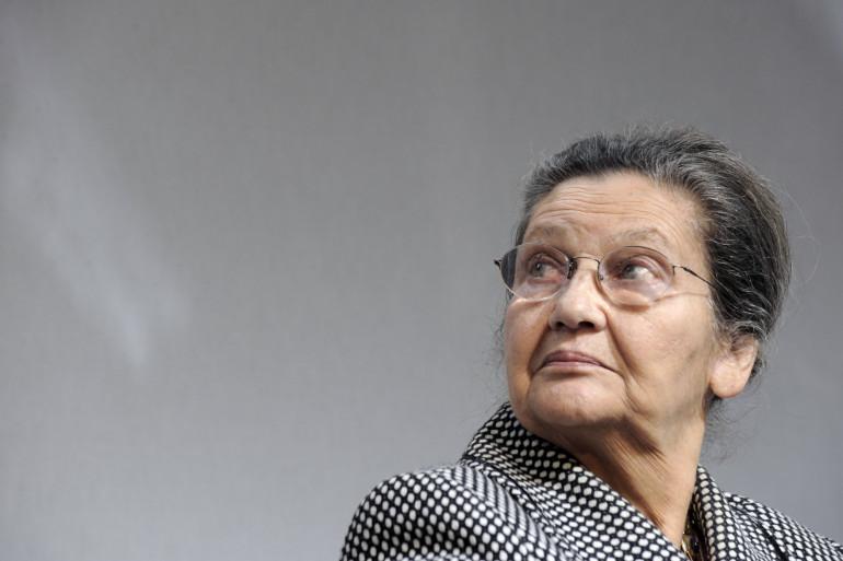 Simone Veil, le 25 janvier 2011 près de Paris