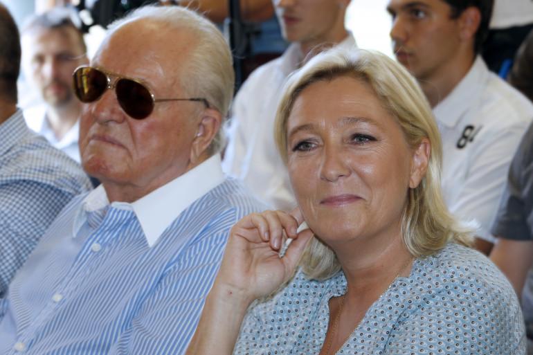 Jean-Marie et Marine Le Pen à Fréjus en 2014