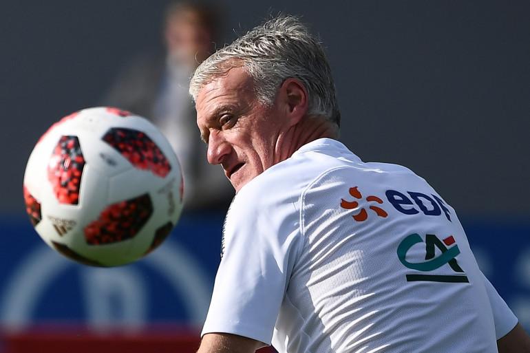 Le sélectionneur des Bleus, Didier Deschamps, le 1er juillet 2018 à Istra