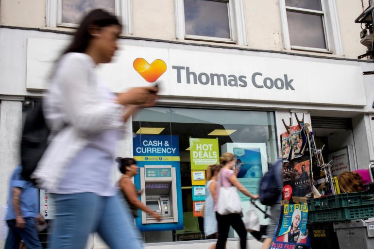 Devanture d'un magasin Thomas Cook (illustrationà