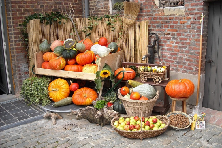 Les fruits et légumes d'automne.