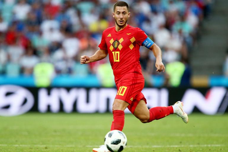 Eden Hazard avec la Belgique le 18 juin 2018