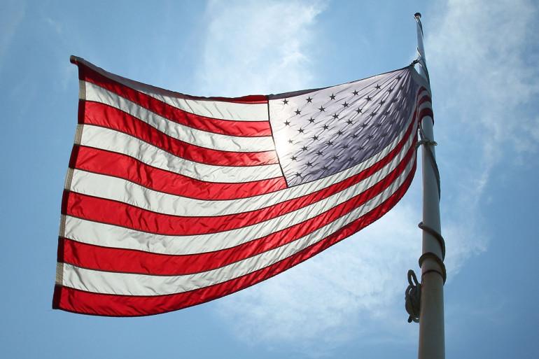 Le drapeau américain (illustration)