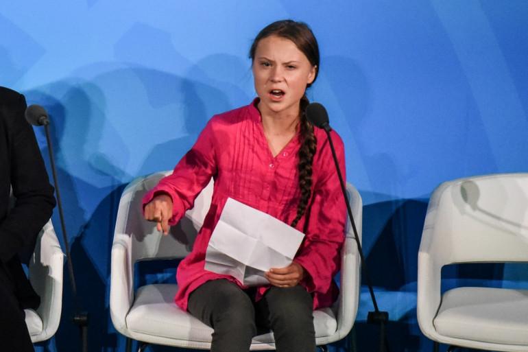 Greta Thunberg au sommet de l'ONU, à New York le 23/09