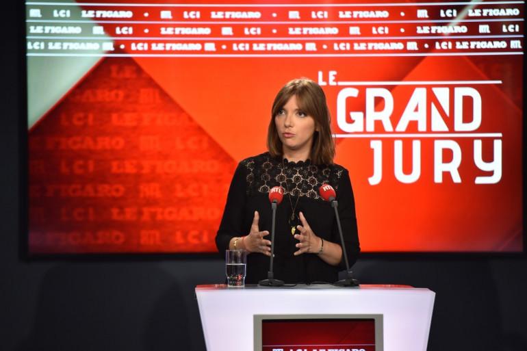 """Aurore Bergé lors du """"Grand Jury RTL, Le Figaro, LCI"""" dimanche 8 juillet"""