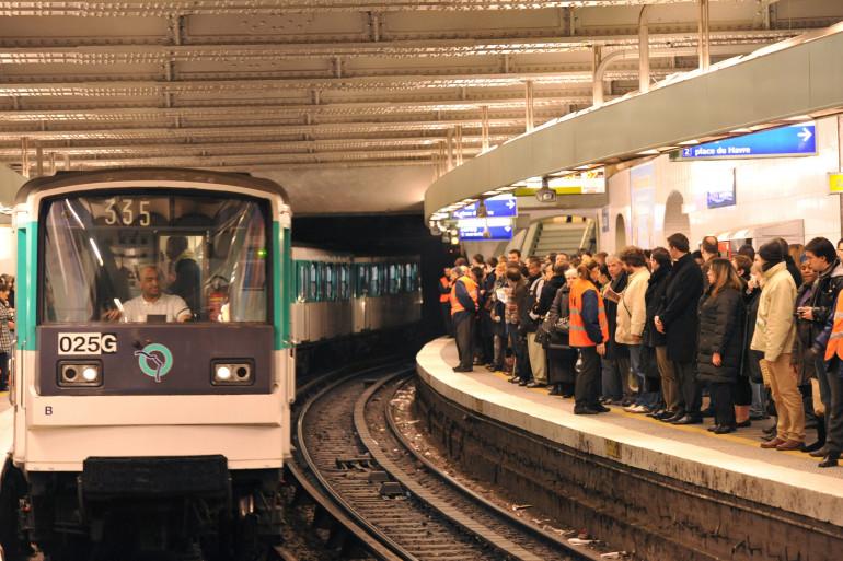 Une rame du métro parisien (illustration)