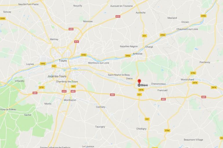 La ville de Bléré près de Tours, en Indre-et-Loire