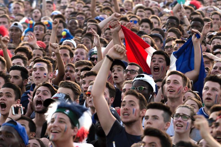 La fan zone de Lyon, place Bellecour, lors de l'Euro 2016