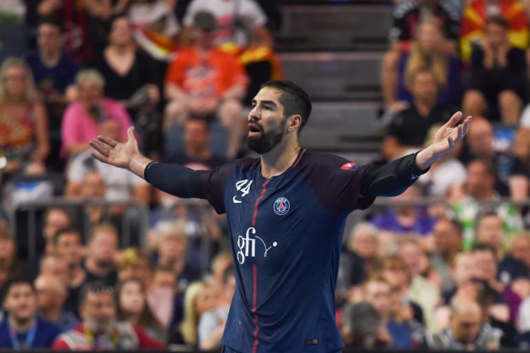 Nikola Karabatic avec le PSG handball le 27 mai 2018 à Cologne