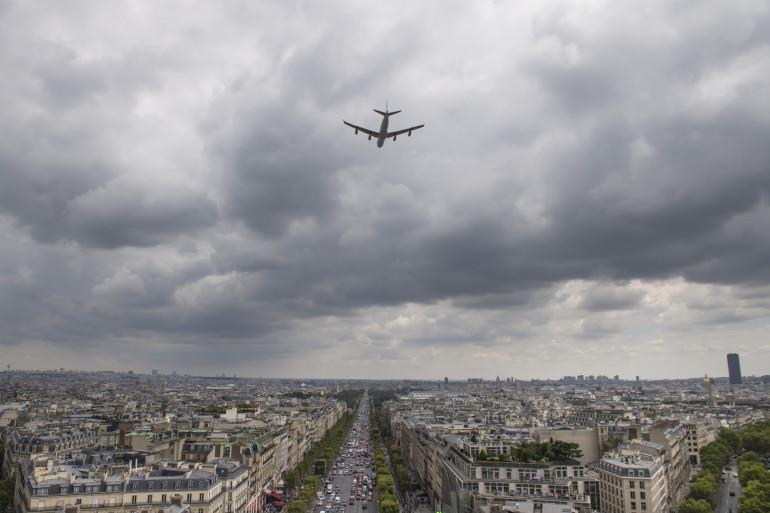 Paris, lors de la répétition de la cérémonie du 14 juillet, le 11 juillet