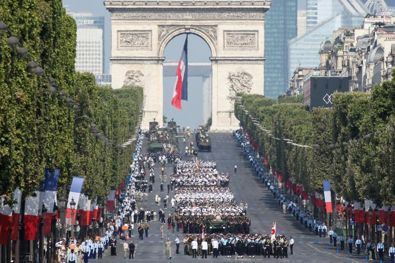 Le défilé du 14 juillet 2018 sur les Champs-Élysées à Paris