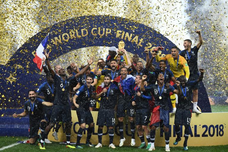 Les Bleus sont champions du monde, le 15 juillet 2018 à Moscou