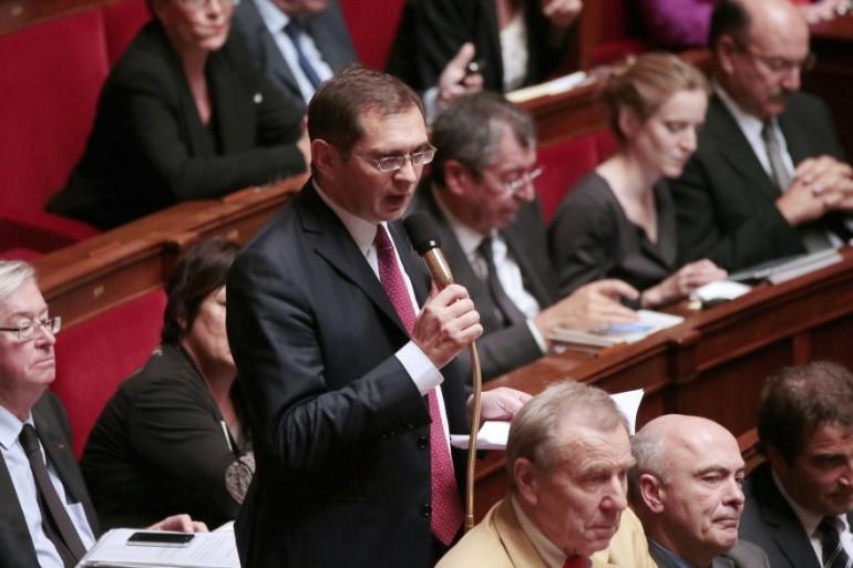 Le député LR Pierre Morel-À-L'Huissier le 24 octobre 2012 à l'Assemblée nationale