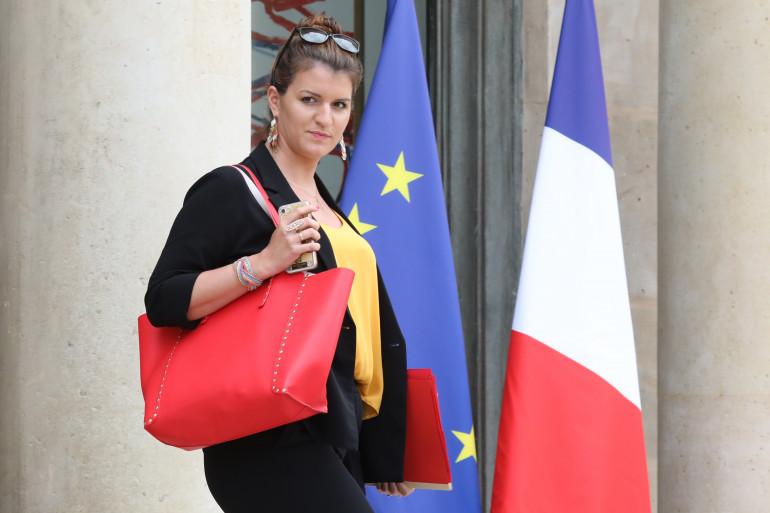 La secrétaire d'État chargée de l'égalité entre les femmes et les hommes, Marlène Schiappa, à l'Élysée, le 30 mai 2018.