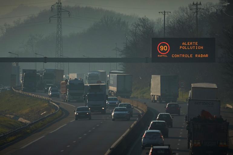 Circulation un jour de pic de pollution (illustration)