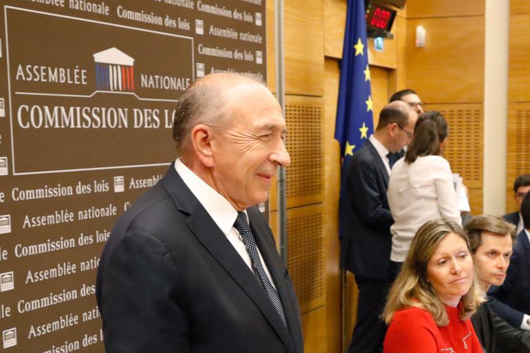 Le ministre de l'Intérieur Gérard Collomb se présente à une audition lundi 23 juillet 2018 dans le cadre de l'affaire Benalla