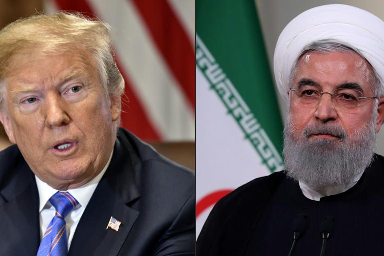 Le président américain Donald Trump et son homologue iranin Hassan Rohani
