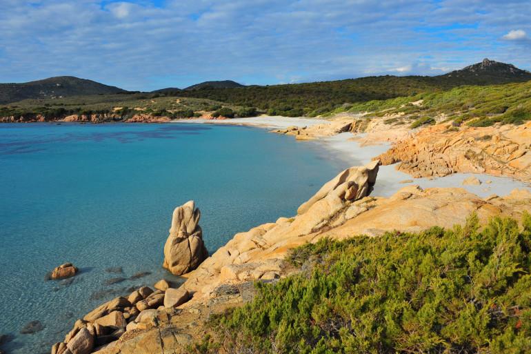 Une plage dans le sud de la Corse (illustration).