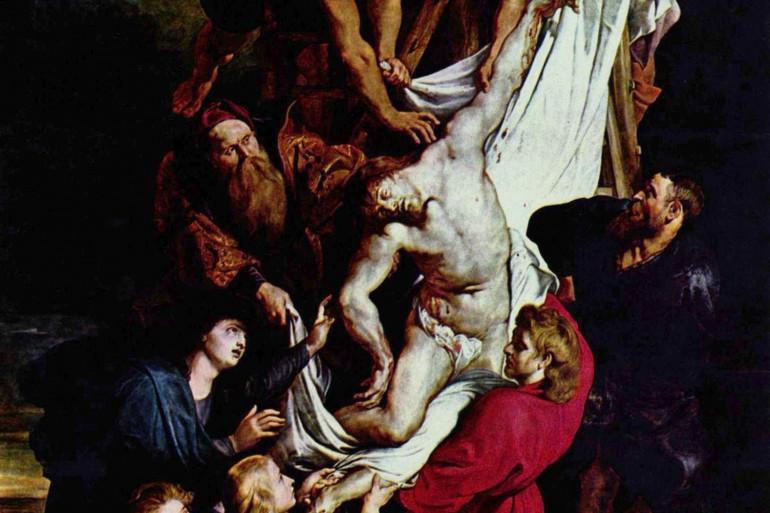 """""""La Descente de Croix"""" est une peinture de Pierre Paul Rubens."""