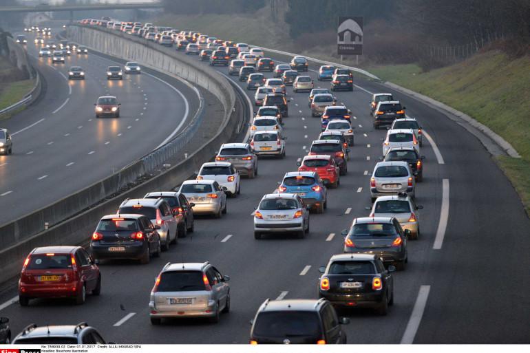 L'autoroute A43 près de Lyon (illustration).
