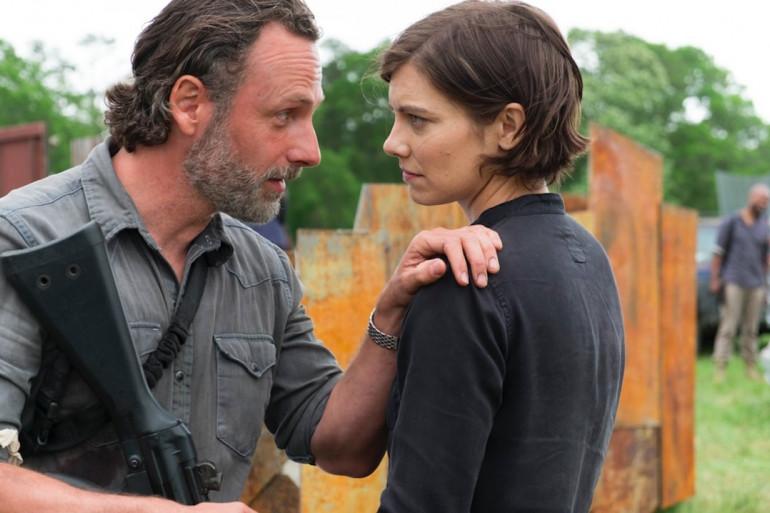 """Rick et Maggie dans la saison 8 de """"The Walking Dead"""""""