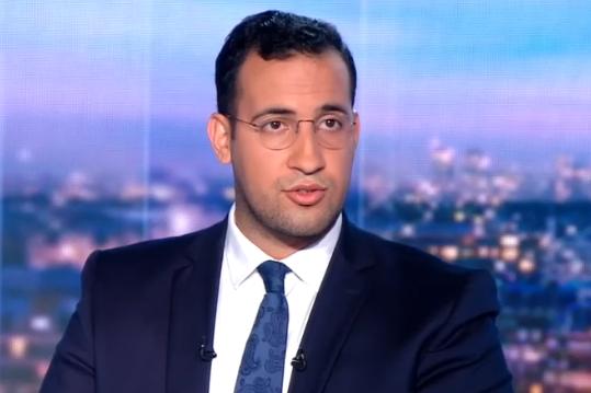 Alexandre Benalla sur le plateau de TF1, le 27 juillet 2018.