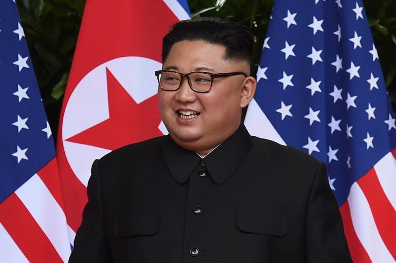 Kim Jong Un lors du sommet avec Donald Trump, le 12 juin 2018 à Singapour