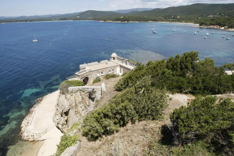 La vue du fort de Brégançon