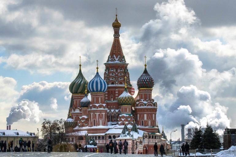 La plage rouge face au Kremlin