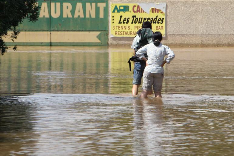 Des vacanciers bloqués par des inondations dans le Gard (Image d'illustration)