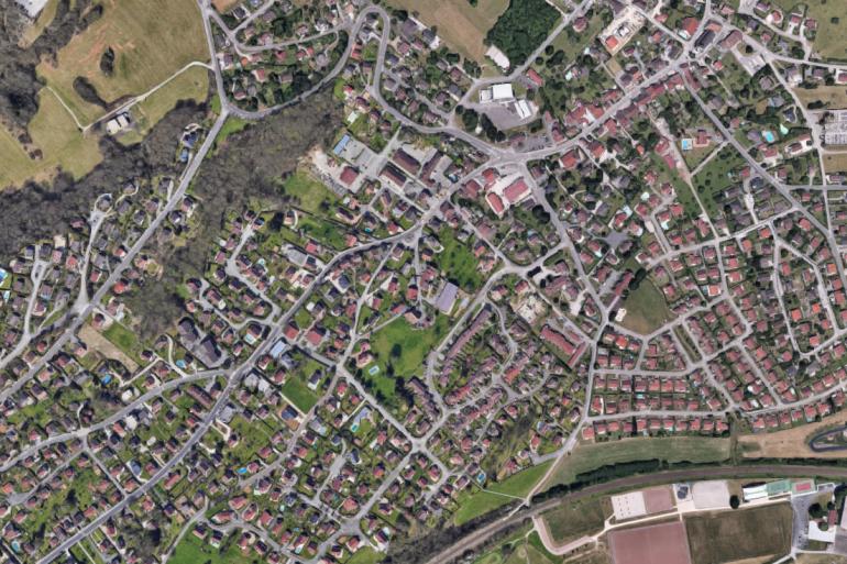 La commune de Thise sur Google Maps