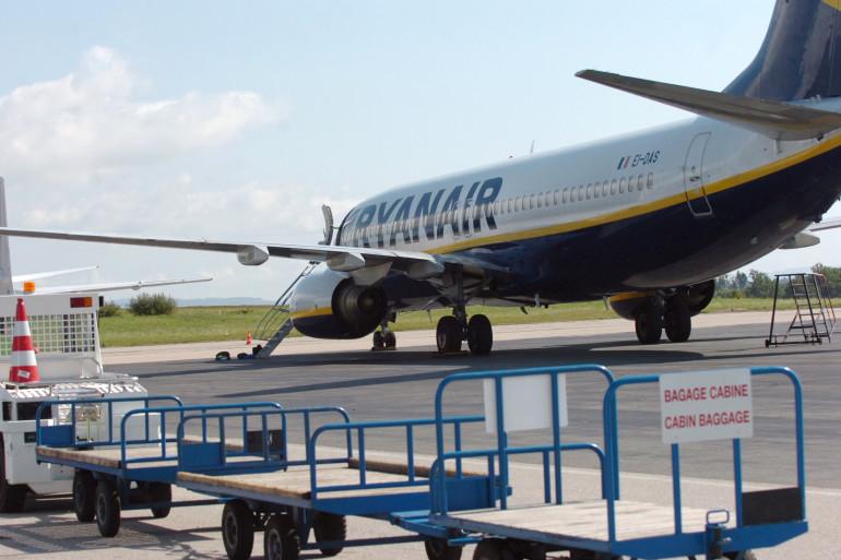 Un avion de la compagnie Ryanair à Limoges (illustration).