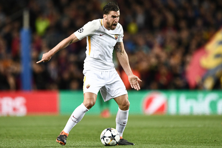 Kevin Strootman en quarts de finale de Ligue des Champions 2018 contre le FC Barcelone