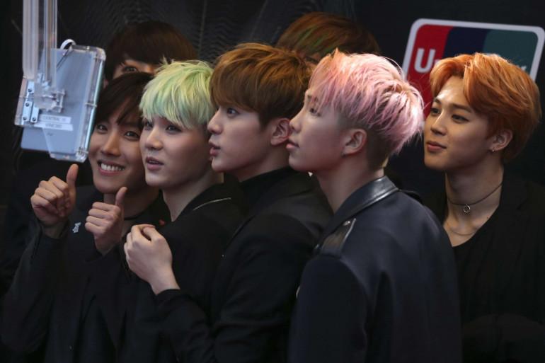 Le groupe sud-coréen BTS