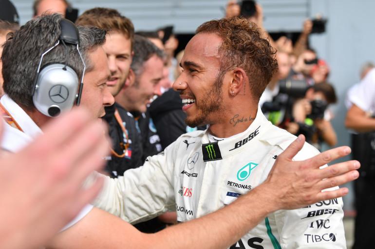 Lewis Hamilton a remporté le GP d'Italie, le 2 septembre 2018