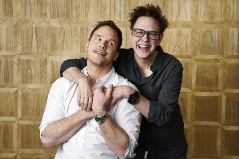 """James Gunn et Chris Pratt de l'équipe des """"Gardiens de la Galaxie"""""""