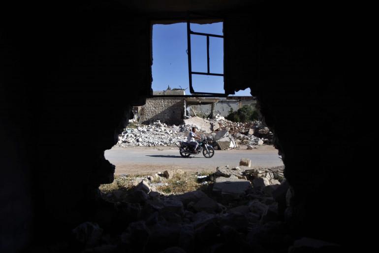 Une vue à Idelb en Syrie, dernier bastion rebelle