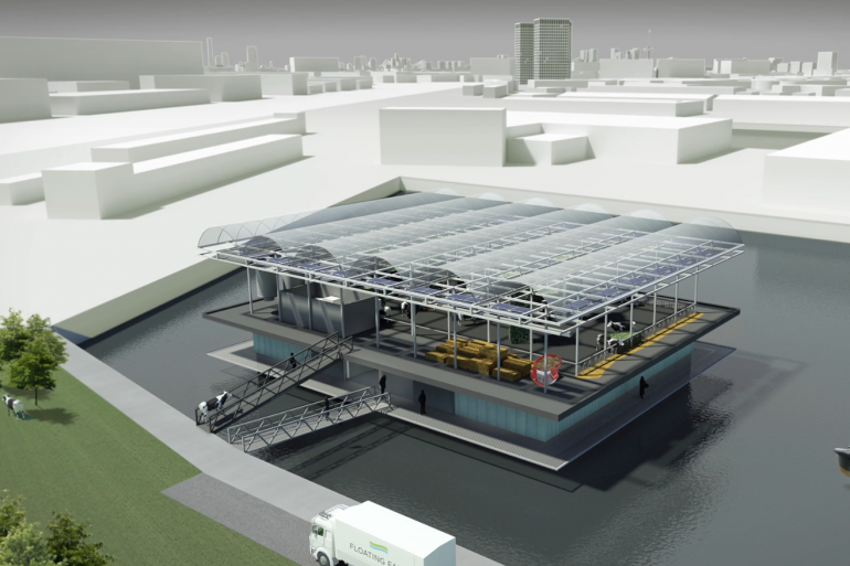 La ferme laitière flottante sera installée dans le port de Merwehaven