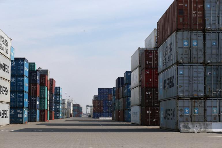 Des porte-containers dans le port américain d'Oakland, le 19 février 2015 (Illustration)