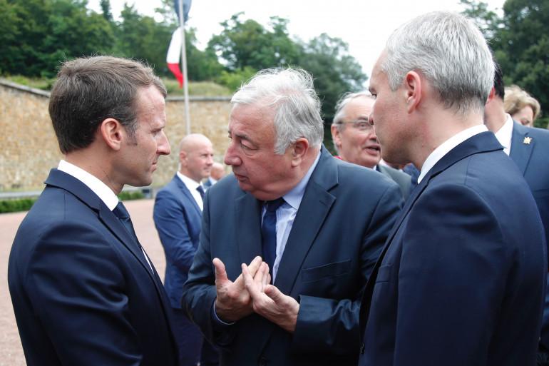 Emmanuel Macron et Gérard Larcher, le 18 juin 2018 à Suresnes