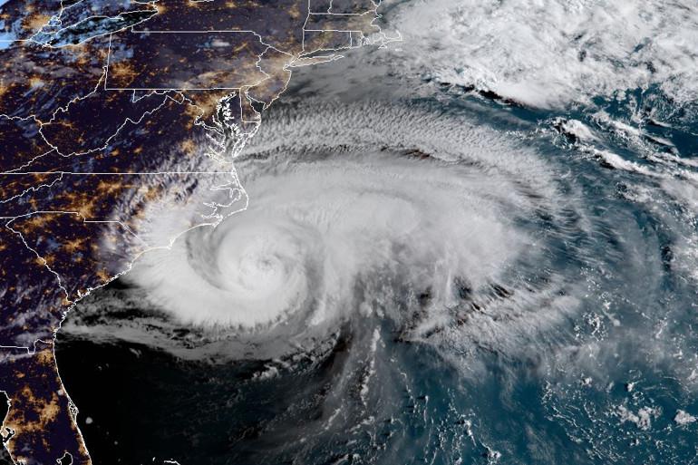 Une vue de l'ouragan Florence depuis la Station spatiale internationale