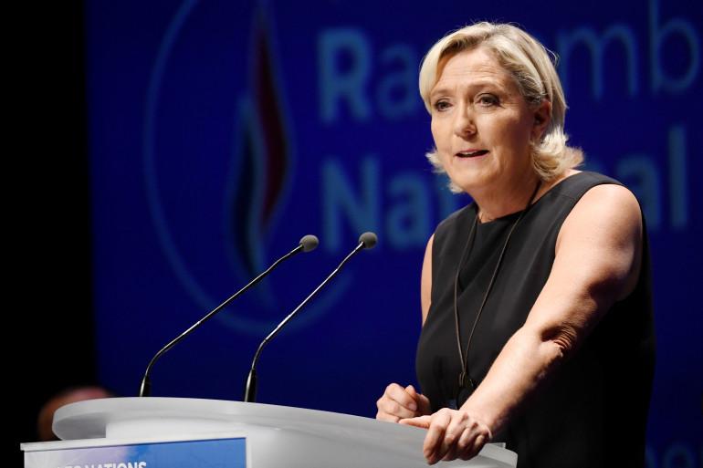 Marine Le Pen lors de son discours de rentrée à Fréjus