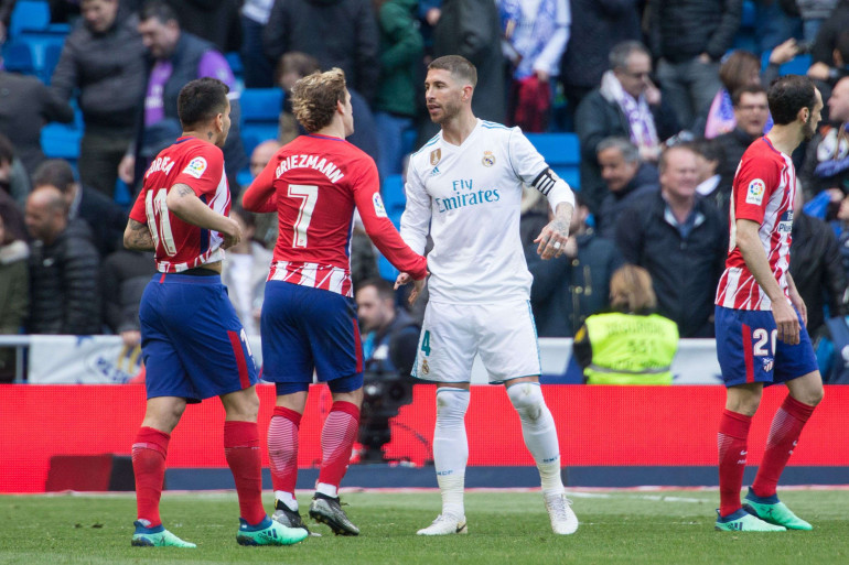 Antoine Griezmann et Sergio Ramos s'expliquent verbalement le 8 avril 2018