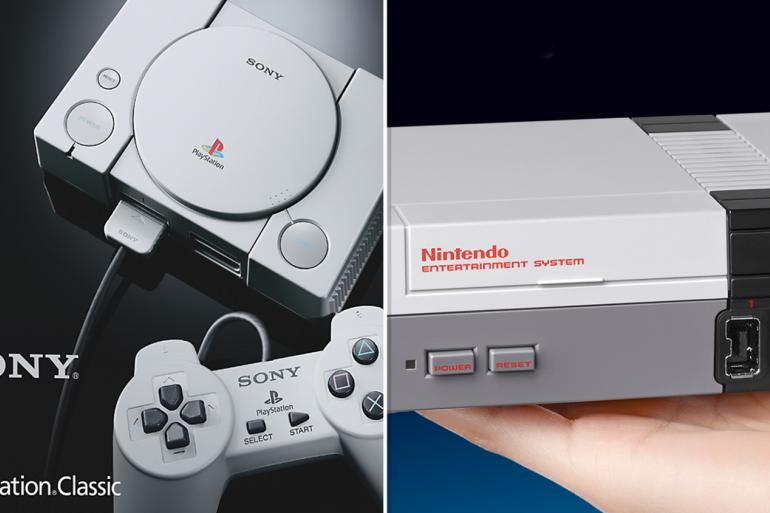 Montage Photo Playstation Classic et Mini nes