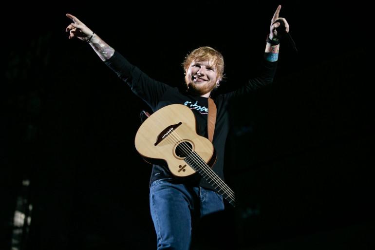 Ed Sheeran lors de son concert dans la ville de Détroit, le 9 septembre 2018