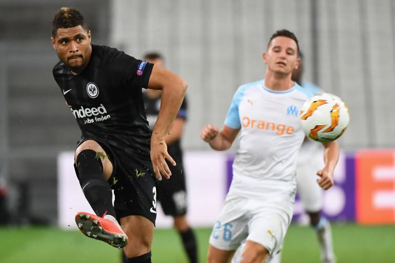 Florian Thauvin lors de la défaite de Marseille face à Francfort jeudi 20 septembre 2018