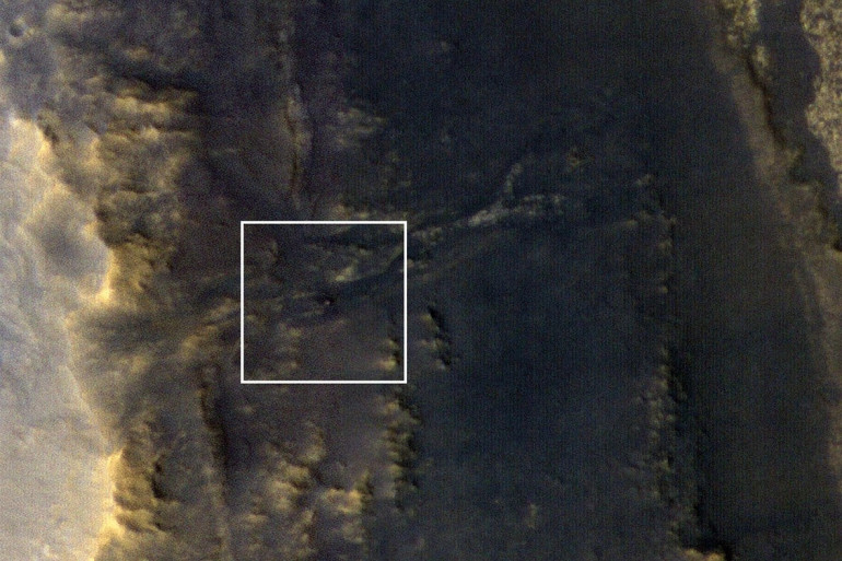 Le robot Opportunity, photographié par la sonde spatiale Mars Reconnaissance Orbiter, le 20 septembre 2018
