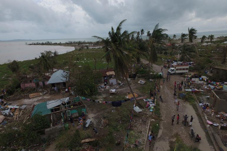 L'île d'Haïti ravagée par le passage de l'ouragan Matthew début octobre 2017