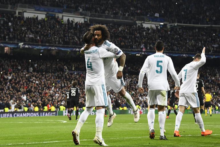 Marcelo félicité par Sergio Ramos le 14 février 2018